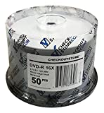 (600) CheckOutStore Premium 16x DVD-R 4.7GB in Spindle (White Inkjet Hard Coat)