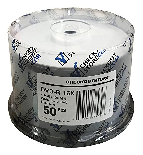 CheckOutStore (200) Premium 16x DVD-R 4.7GB in Spindle (White Inkjet Hard Coat) by CheckOutStore