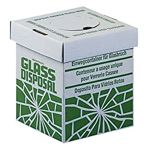 """Bel-Art Scienceware 246530002 Disposal Benchtop Carton for Glass, 8"""" Length x 8"""" Width x 10"""" Height (Pack of 6)"""