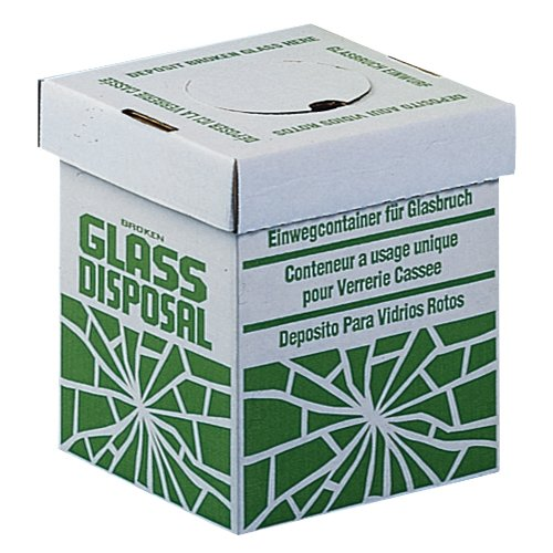 Bel-Art Cardboard Disposal Cartons for Glass; 8 x 8 x 10 in., Benchtop Model (Pack of 6) (F24653-0002)