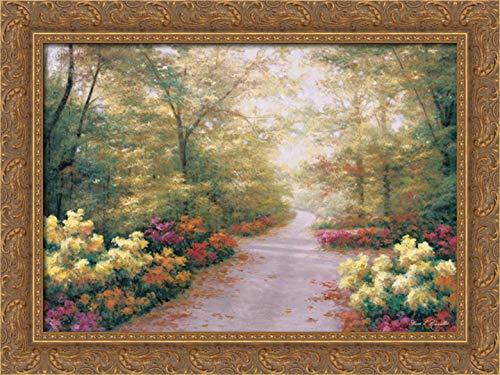 September Song 24x17 Gold Ornate Wood Framed Canvas Art by Romanello, Diane