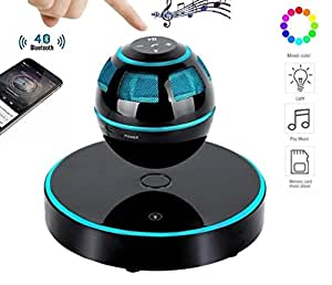 DENT Floating Levitating Bluetooth Speakers with Lights Portable+ MP3 Player + Table Lamp + Night Light + Color Changing LED Desk Lamp [NEWEST MODEL]