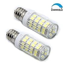 120V 5W E12 Dimmable LED Light Bulb Candelabra Base Light Bulbs E12 Halogen Replacement Bulb for Chandelier Crystal Ceiling Lamp Light Sewing Machine LED Bulb (Pack of 2) (Bright white Cool White 6000k)