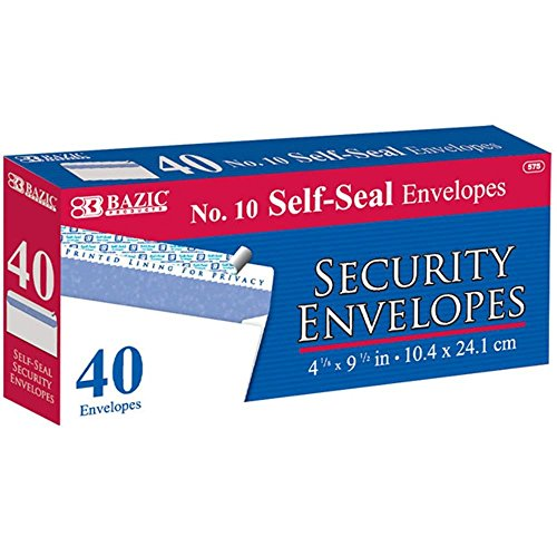 Peel Seal Security Envelope pack
