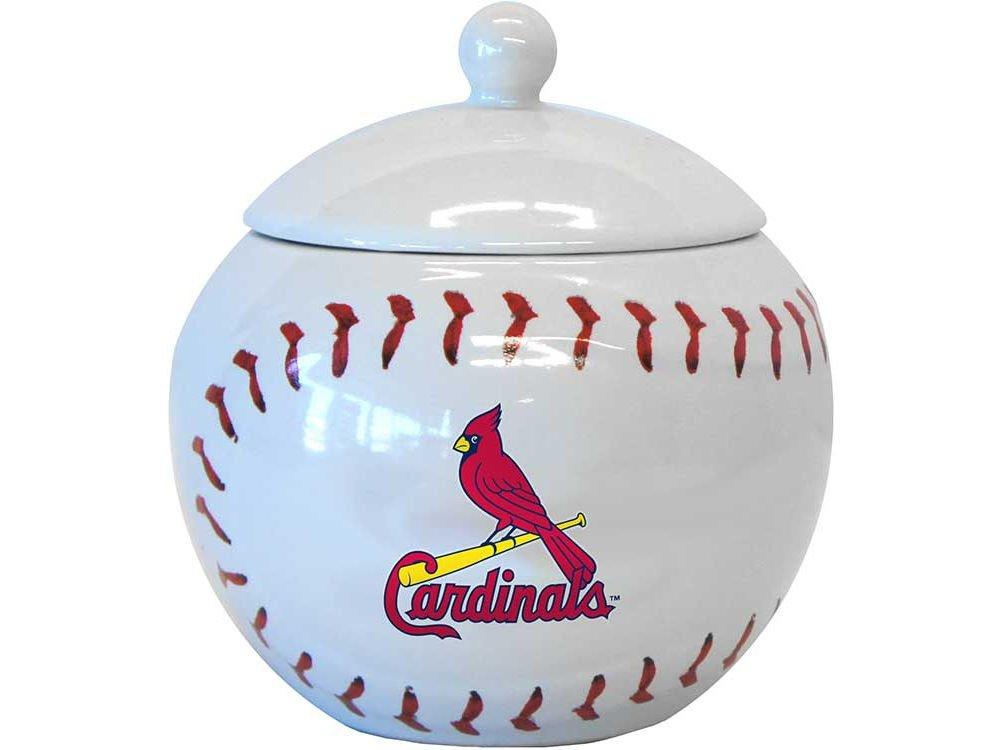 Louis Cardinals Boelterブランド14オンスGametime Jar with Lid B00DM5SSV8