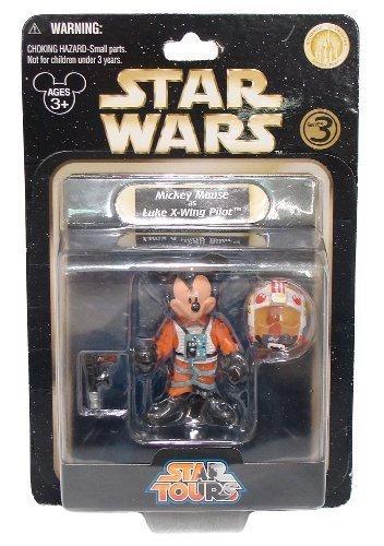 "Mickey Mouse as Luke X-Wing Pilot ~3"" Mini-Figure - Star Wars Star Tours Series #3 (Disney Theme Park Exclusive)"