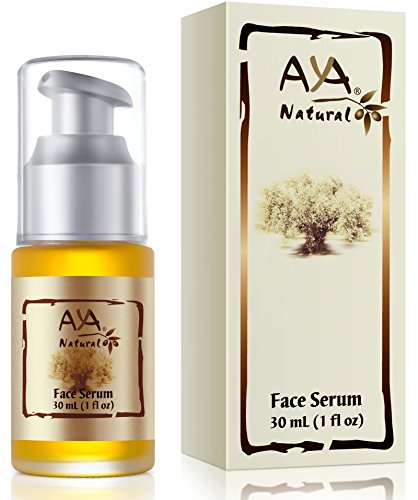 Aya Natural Face Serum for Instant Glow & Hydration, All Natural Vegan Facial Moisturizer with Proven Anti Aging Dry Dull Skin Benefits