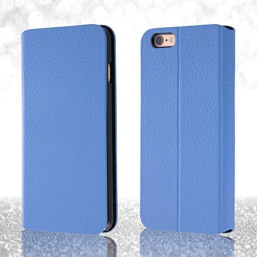 Book Cover Type Leather Jacket Case for iPhone 6 Plus (Lavender)