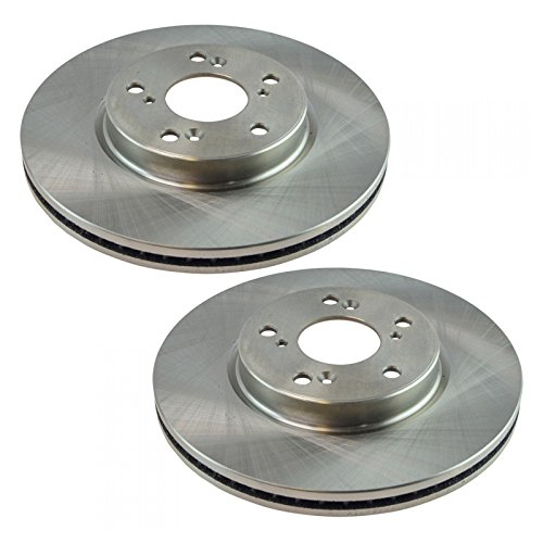 Front Brake Rotor Driver & Passenger Side Pair for Honda Accord V6