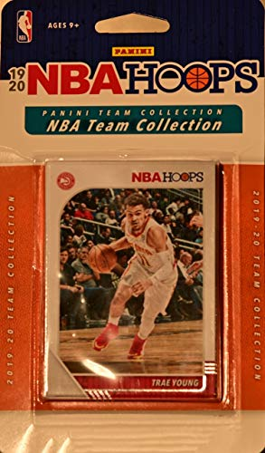 Atlanta Hawks 2019 2020 Hoops Basketball Factory Sealed 12 Card NBA Licensed Team Set with Trae Young and a Cam Reddish Rookie Card Plus