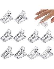 10 stuks transparante nageltangen van gel, verlenging voor snelle bevestiging, nageltips, clips voor manicure, nail art