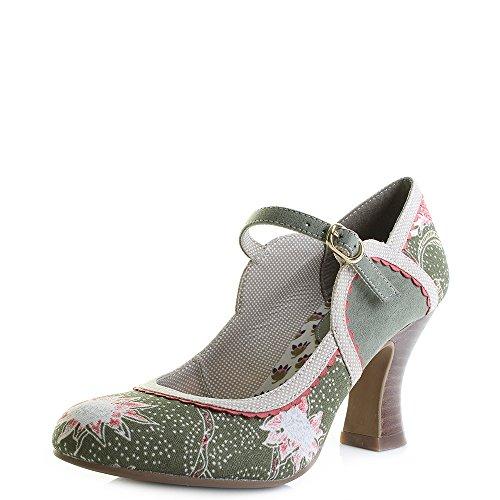 Ruby Shoo Women's Rosalind Mary Jane Pumps Green