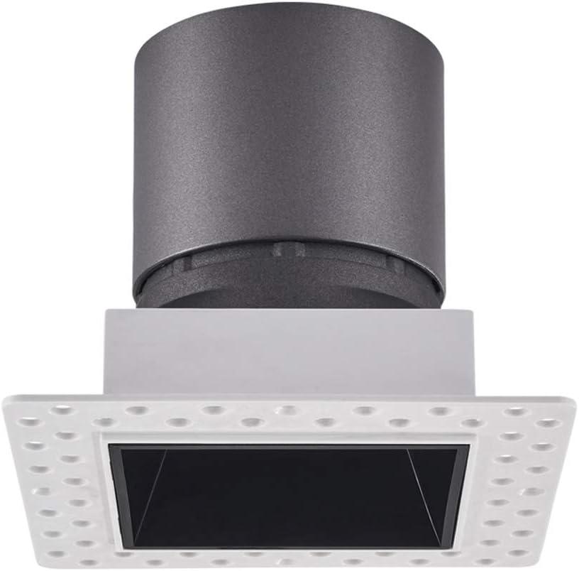 Popertr Cuadrada empotrada LED proyector del Techo sin Fisuras LED Rejilla lámpara de Techo luz empotrada cri95 Color de Alta Densidad de Aluminio empotrada en el Techo Luz: Amazon.es: Hogar