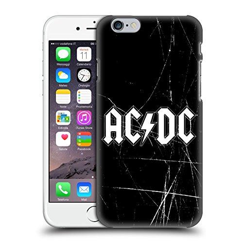 Officiel AC/DC ACDC Blanc Logo Étui Coque D'Arrière Rigide Pour Apple iPhone 6 / 6s