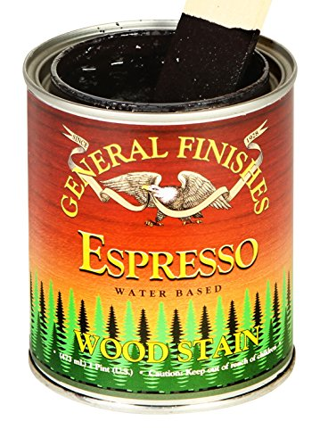 (General Finishes WXPT Water Based Wood Stain, 1 Pint, Espresso)