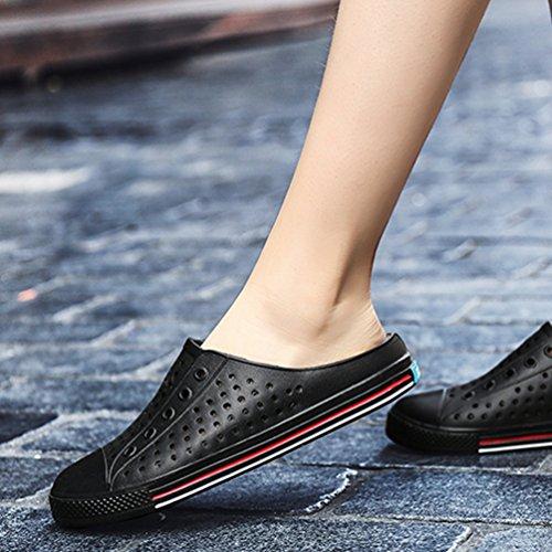 Negro de Zapatillas Hombre PVC Bajas Qianliuk wXzaq7nn