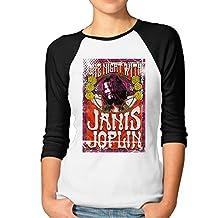 Women's Janis Joplin Art 3/4 Sleeve Raglan T-Shirt