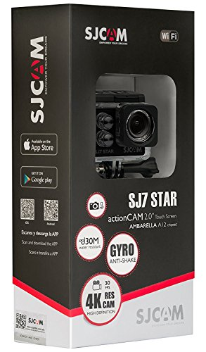 SJCAM SJ7 STAR 4K 12MP 2'' Touch Screen Metal Body Gyro Waterproof Sports Action Camera BLACK by SJCAM (Image #4)