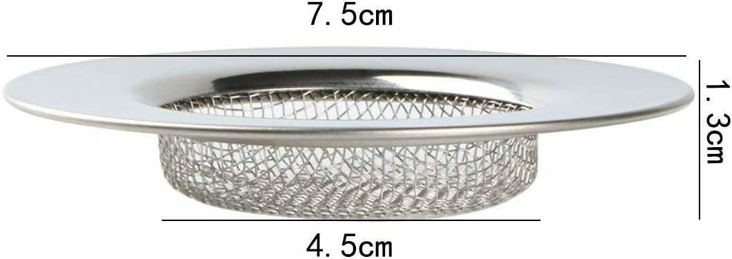 4Packs Stainless Steel Fine Mesh Sink Washbasin Filters for Kitchen Bath Drainage Filter