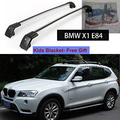 KPGDG Fit for BMW X1 E84 2010-2015 Lockable Baggage Luggage Racks Roof Racks Rail Cross Bar Crossbar - Silver