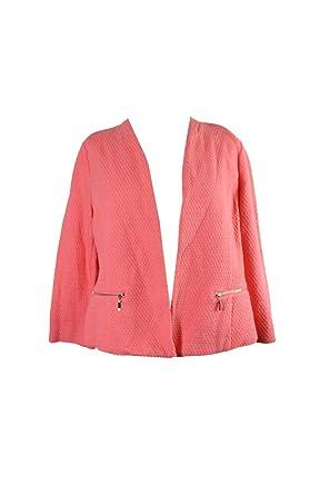9d3d28823855 Alfani Textured Jacquard Open feint Jacket Size L Georgia Peach at ...