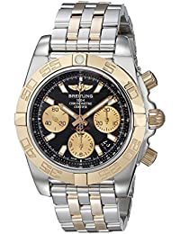 Mens Watch CB014012-BA53-378C Chronomat 41 Automatic Black Dial 18K Rose Gold and. Breitling