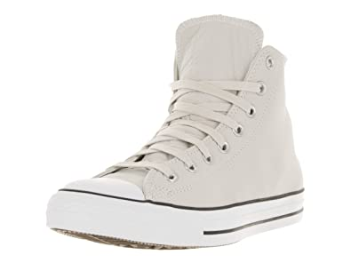 53a1a154b4a2 Converse Mens Unisex Chuck Taylor All Star Leather Hi Top Fashion Sneaker  Shoe