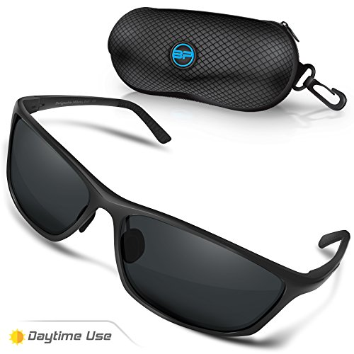 BLUPOND RALLY Polarized Driving Sunglasses, Metal Frame Glasses for Driving Fishing Shooting with Anti-Glare UV400 Lenses Includes 5 IN 1 Accessories - Sunglasses Shooting
