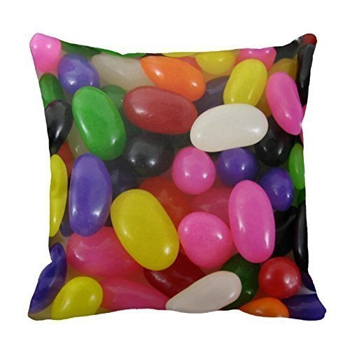 X-Large Personalized Throw 18 x 18 Rainbow jellybean candy J