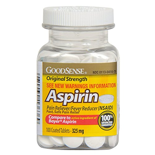 GoodSense Coated Aspirin Pain Reliever Tablets 325 mg