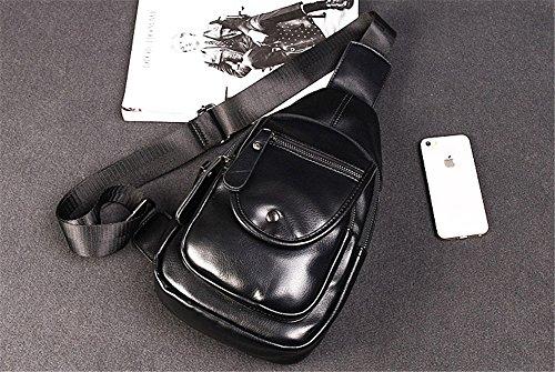 para Mochila Samsung Wewod x Viaje Excursión 30 multi Hombro Mochilas Senderismo Bolso iPhone y x de de Casual Crossbody L de PU Bolso del Bolsillos Sling 8 Negro 17 Pecho iPad W H cm HgpzxqrHw