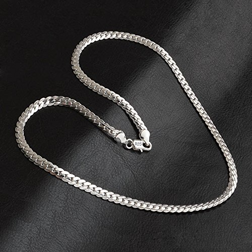 Yonisun 5mm 20inches 925 Sterling Silver Chain Necklace Men/Women Fashion Jewelry New pimchanok