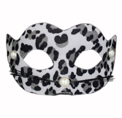PANDA SUPERSTORE Leopard Print Mask Halloween Party Mask Masquerade Mask D Type(6.7W x 4.1H Inch) ()