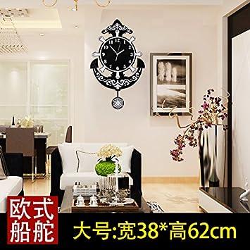 Y Hui Uhren Wanduhr Aufhängen Im Wohnzimmer Tisch Mute Clock