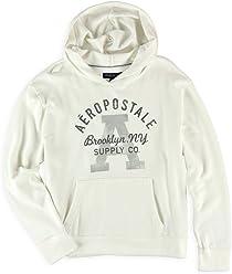 Aeropostale Womens Brooklyn Supply Co. Hoodie Sweatshirt