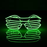 EL Glasses Shutter Shades for Bar Party Fluorescent Dance DJ Bright Wire Fashion Neon LED Light Glow Rave Costume Atmosphere Activing Props