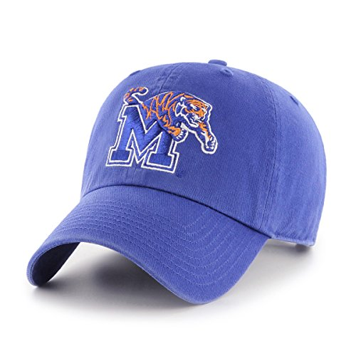 Memphis Tigers Tigers - OTS NCAA Memphis Tigers Challenger Clean Up Adjustable Hat, Royal, One Size