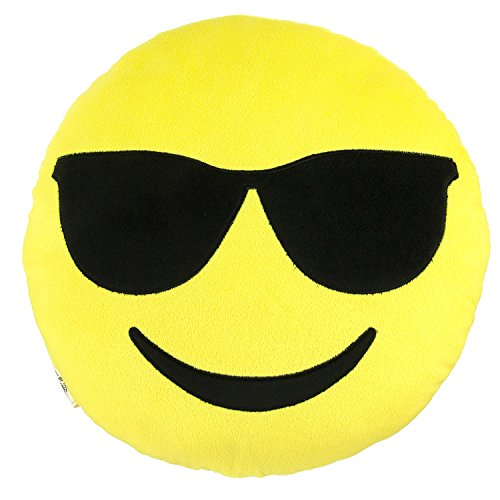 (Emoji Expressions Plush Pillow - Cool Shades Face)