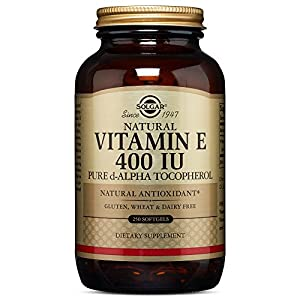 Solgar Vitamin E 400 IU Alpha, 250 Softgels