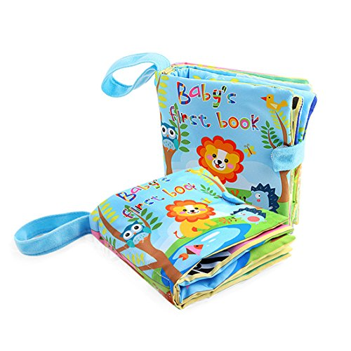 Baby Soft Fabric Activity Colouring Books with Velcro,Baby's Cloth Frist Word Books Education Development Toy-ONE PCS