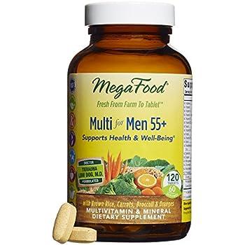 MegaFood - Multi for Men 55+, A Balanced Whole Food Multivitamin, 120 Tablets