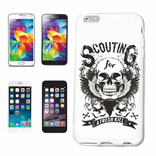 "cas de téléphone iPhone 6S ""A FRESH KILL SKULL BIKER SHIRT GOTHIQUE BIKE CLUB MC MOTO CHOPPER CUSTOM MOTO MOTO CLUB REUNION REUNION"" Hard Case Cover Téléphone Covers Smart Cover pour Apple iPhone en b"