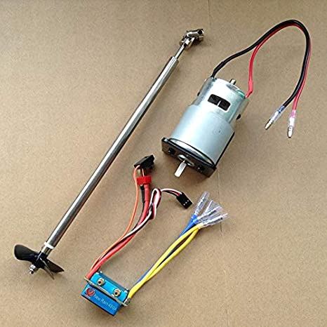 2 Packs 480A Waterproof Brushed ESC for 540 550 775 Motor Boat Accessories