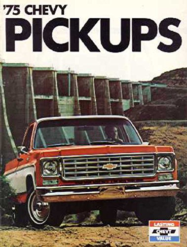 - 1975 Chevrolet Pickup Truck Sales Brochure Literature Book Options Specification