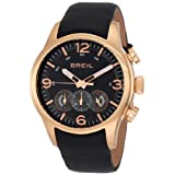 Breil Men's Watch TW0775 Chronograph Black Dial Leather Band