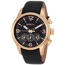 Breil Men's Watch TW0775 Chronograph Black Dial Leather Band