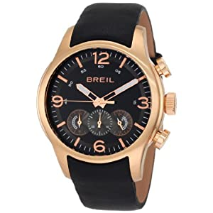 Breil Milano Men's TW0775 New Globe Rose Gold Chronograph Screwed Caseback Watch