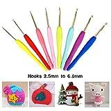 57 Pack Crochet Hooks Set Knitting Needles Kit