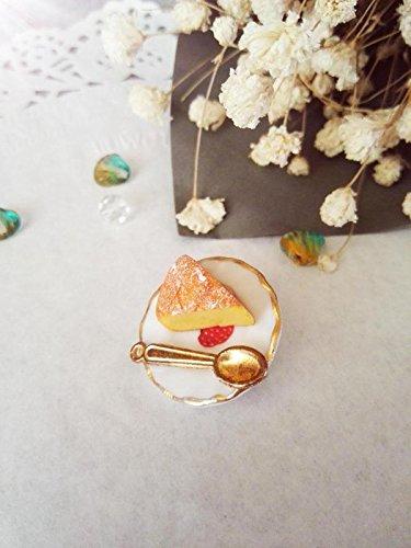 Custom (afternoon tea) lovely lifelike cheese slice cheese cake brooch 98 Generic