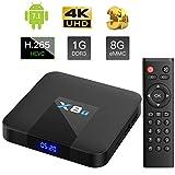 internet box for tv - Bqeel 2018 X8T Android 7.1 4K Android Box 2.4G WIFI Quad-core Prozessor TV Box H.265 Smart TV Box (1G RAM/ 8G ROM)